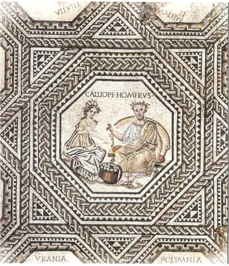Гомер и Каллиопа. Ок. 240 г. н.э.