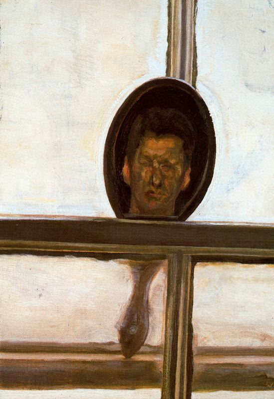 Интерьер с ручным зеркалом (автопортрет)