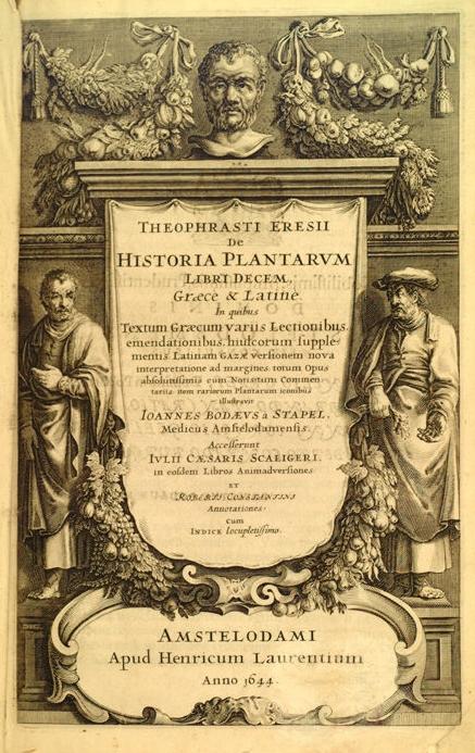 История растений. Издание 1644 года. Фронтиспис
