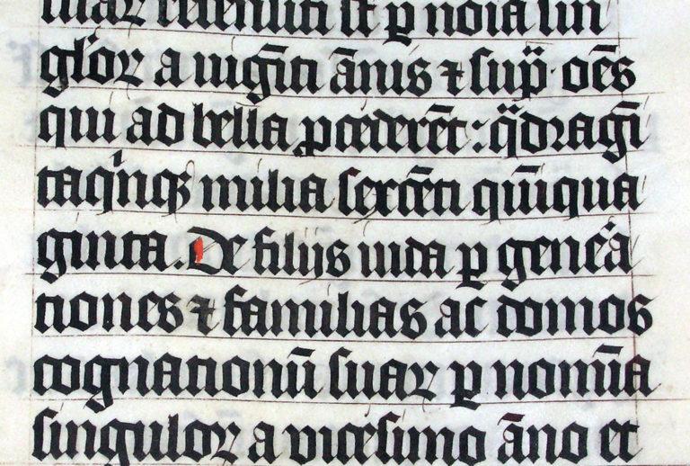 Каллиграфия в Латинской Библии. 1407