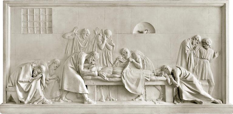 Критон закрывает глаза Сократу. Ок. 1790-1792