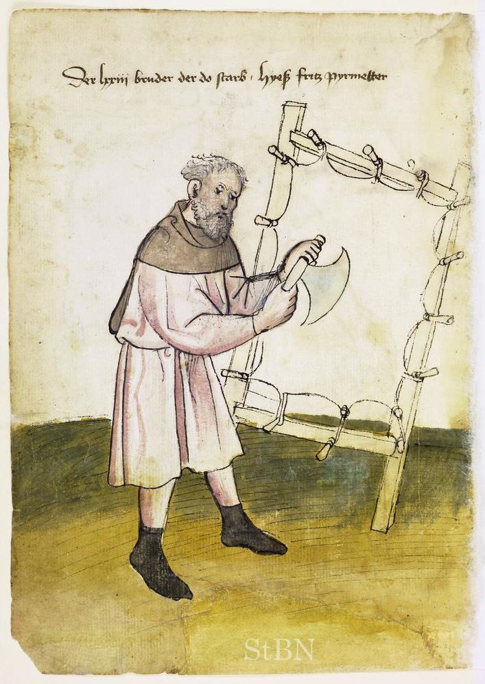 Мастер изготавливающий пергамен (Pergamentmacher). Ок. 1425 года