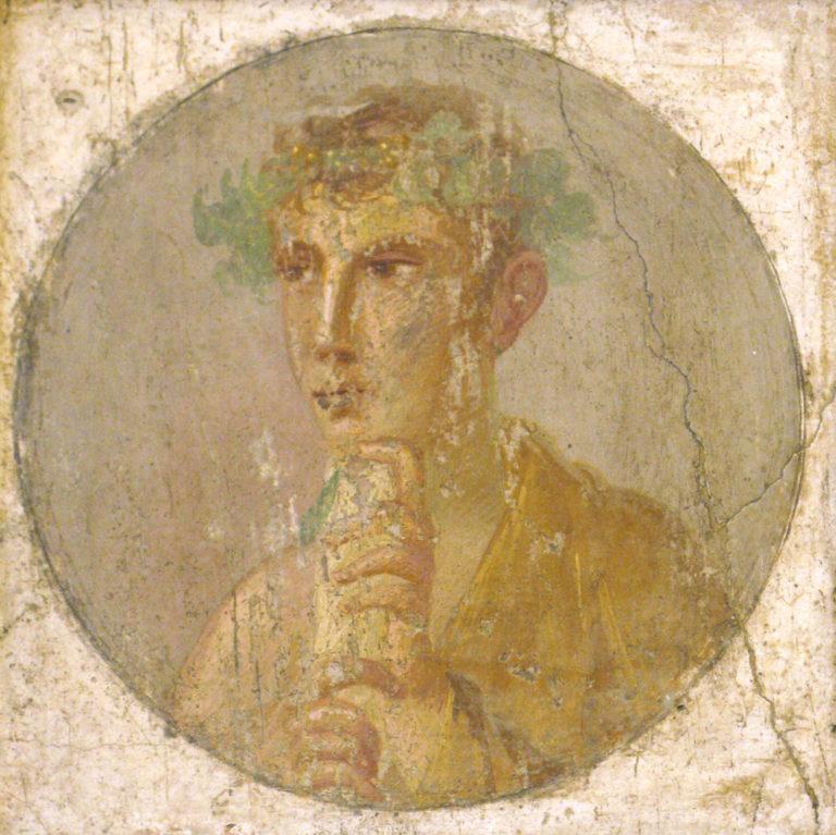 Молодой человек со свитком rotulus. I в. н.э.