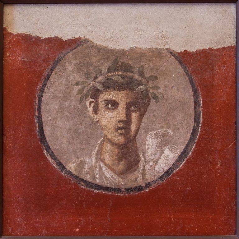 Молодой человек со свитком volumen. I в. н.э.