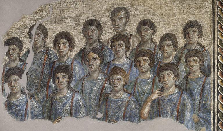Мозаика с изображением хора учеников. II-III вв. н.э.