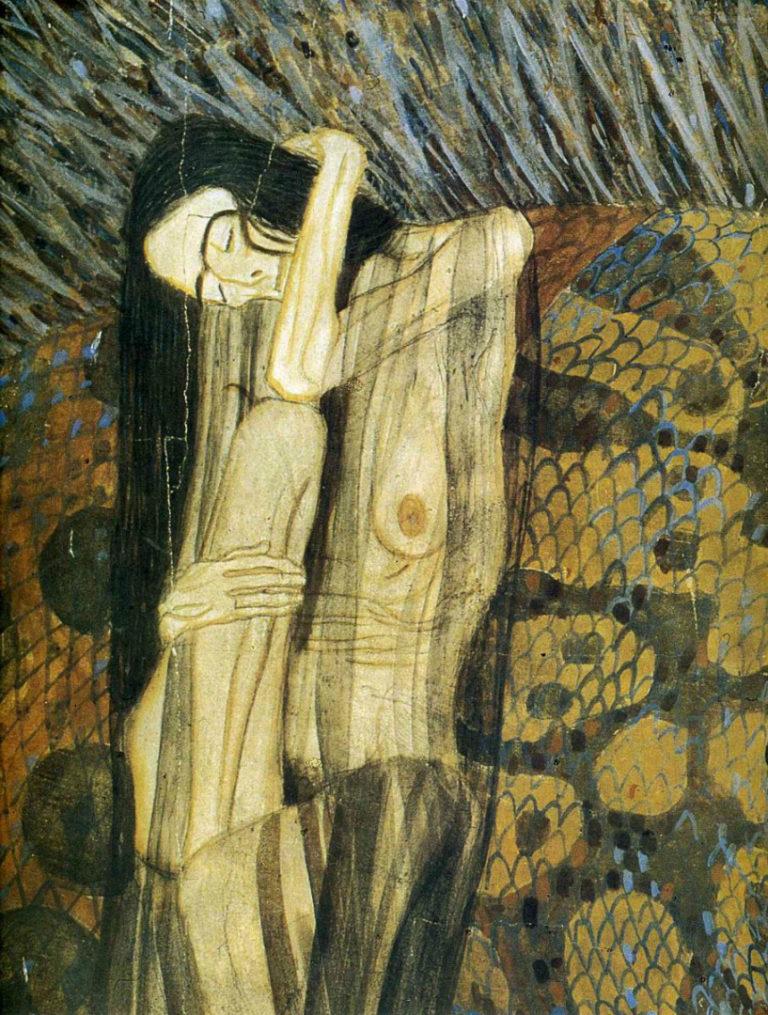 Мучительная тоска. Фрагмент картины из цикла «Бетховенский фриз». 1902