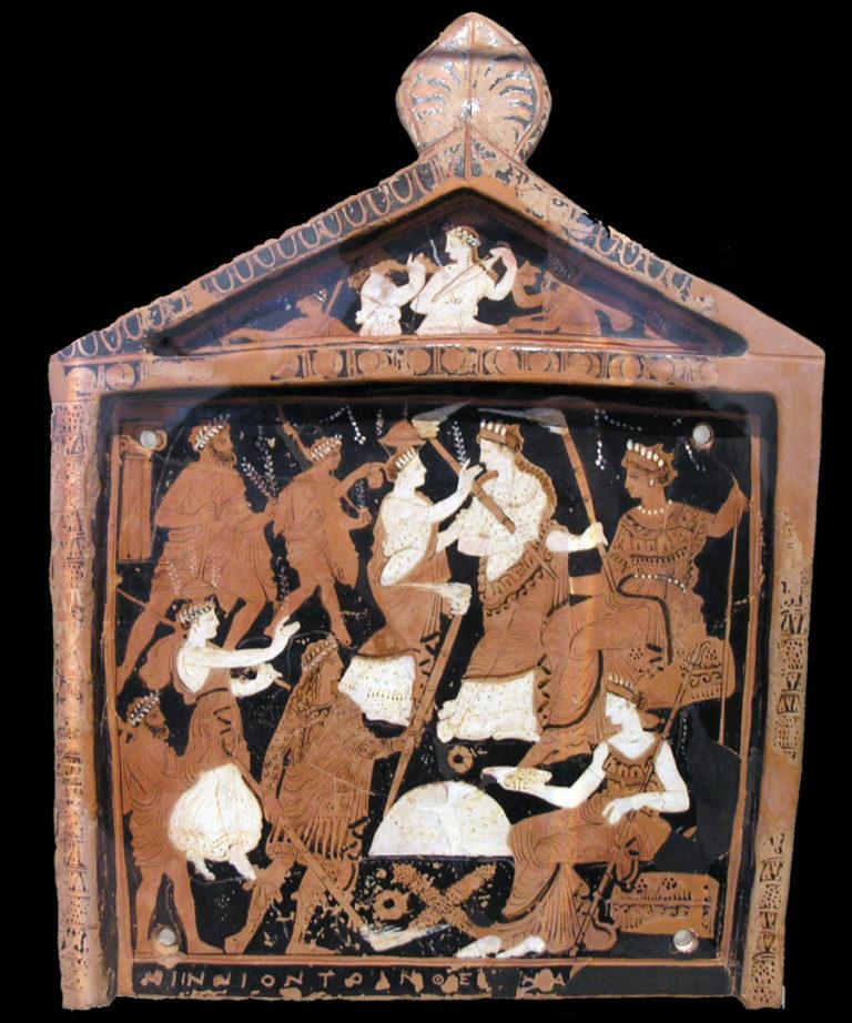 Ниннионская табличка с элевсинскими мистериями. IV в. до н.э.