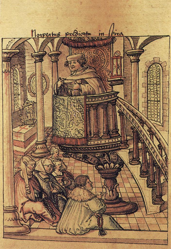 Норберт Ксантенский проповедует в Шпайере. Ок. 1525 г.