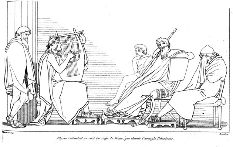 Одиссей плачет, слушая песнь Демодока о взятии Трои при дворе царя Алкиноя. 1810