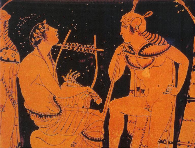 Орфей, играющий на лире. Ок. 440 г. до н. э.
