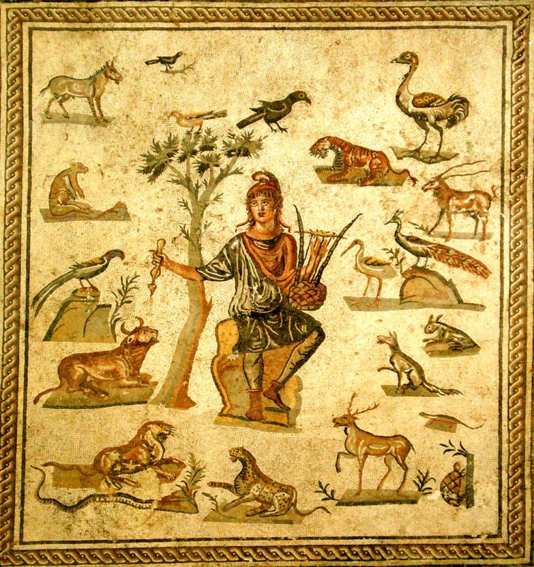 Орфей, окруженный животными