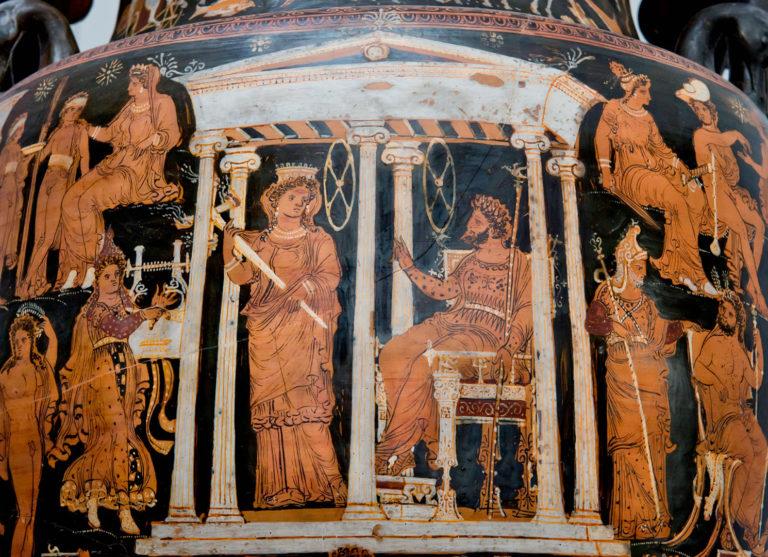 Орфей предстоит перед Аидом и Персефоной. 330-310 гг. до н.э.
