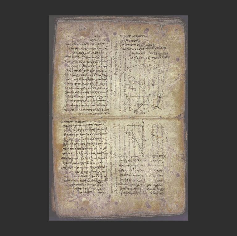 Палимпсест Архимеда. X в. н.э