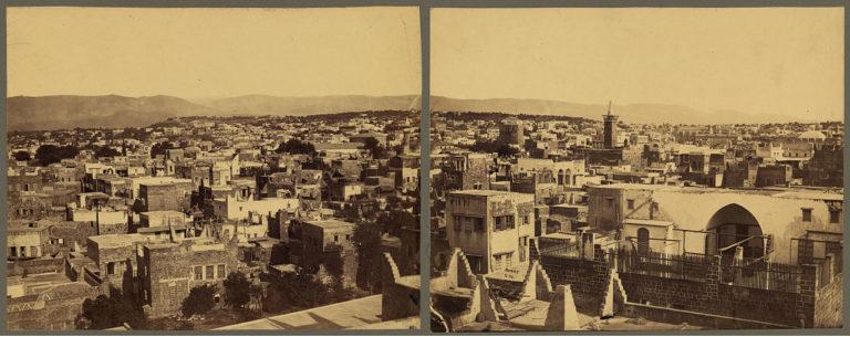 Панорамный вид Бейрута. Между 1867 и 1899 гг.