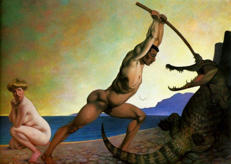 Персей, убивающий дракона. 1910
