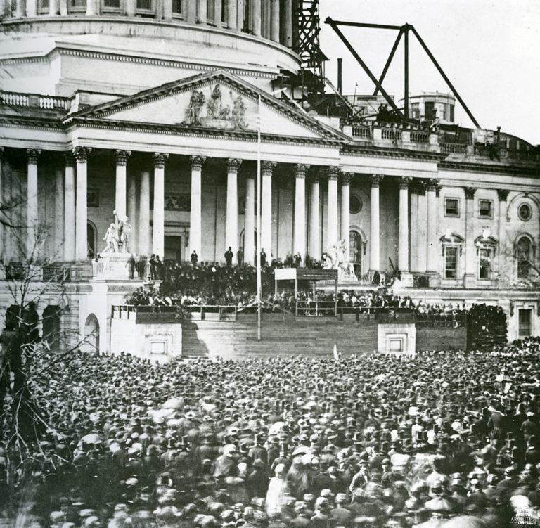 Первая инаугурация Авраама Линкольна. 4 марта 1861 г.
