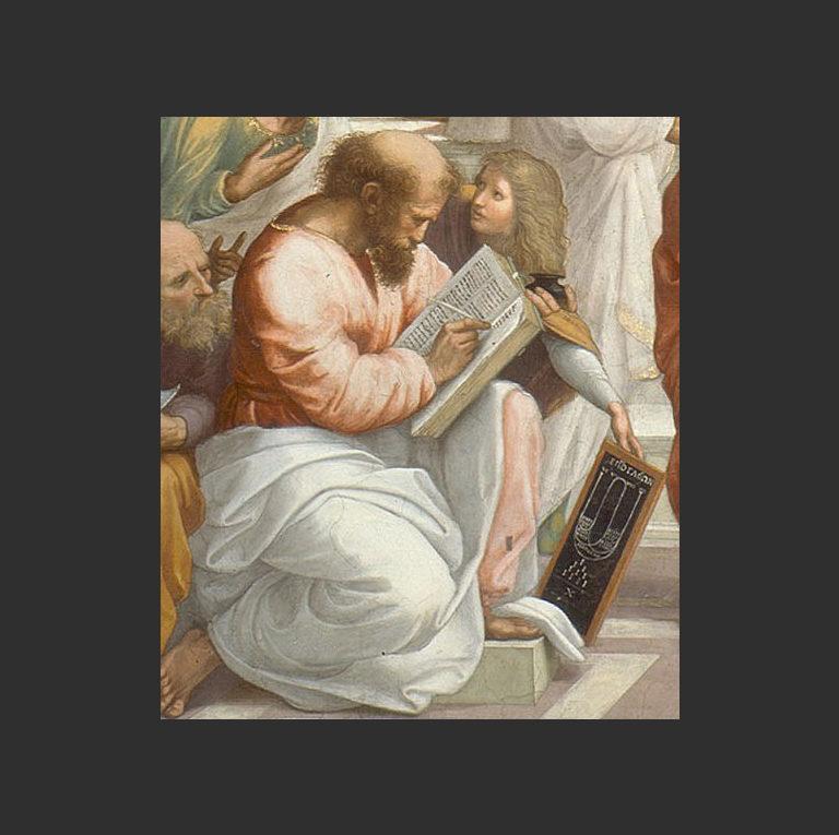 Пифагор, деталь фрески «Афинская школа». 1509-1510