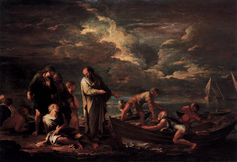 Пифагор и рыбак. 1662
