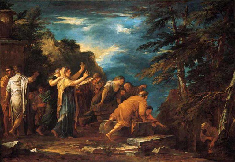 Пифагор выходит из подземного мира. 1662