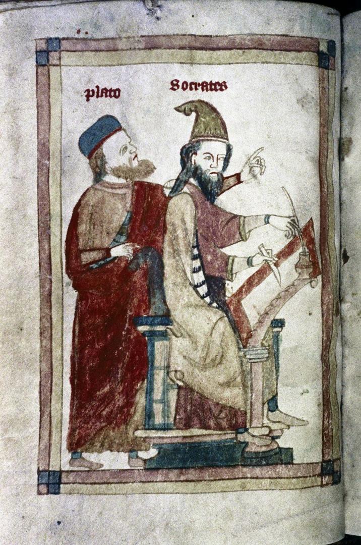 Платон объясняет Сократу как переписывать рукопись