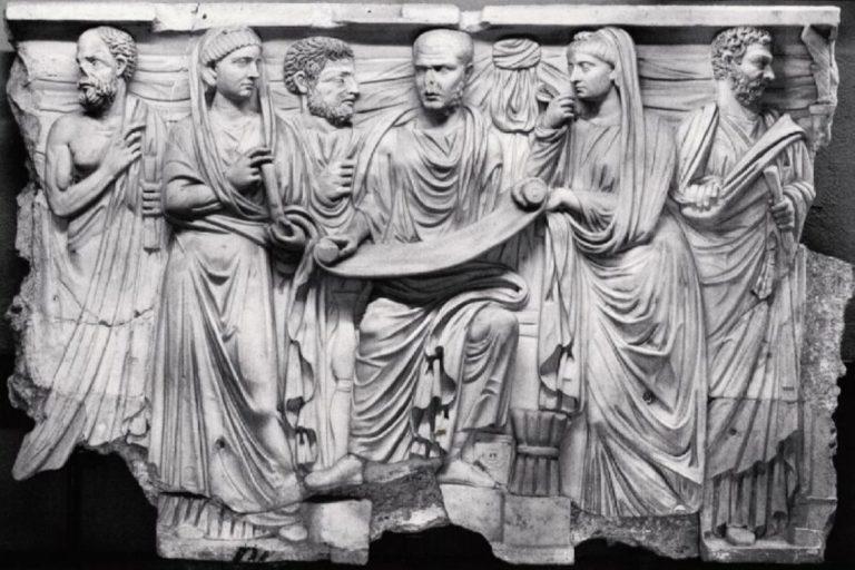 Плотин с учениками. Ок. 270 г. н.э.