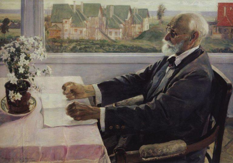 Портрет академика И.П. Павлова. 1935