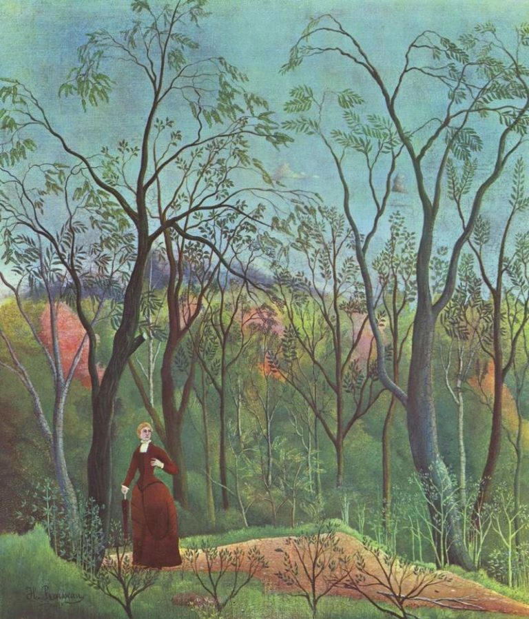 Прогулка в лесу. 1890