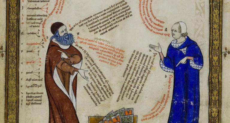 Раймунд Луллий и Томас Мейзье. XIV в.