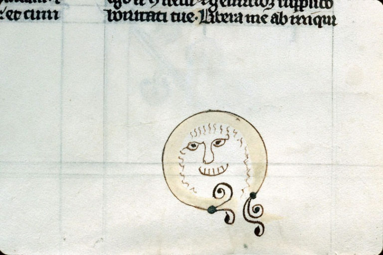 Рисунок на полях книги. XIV-XV в.