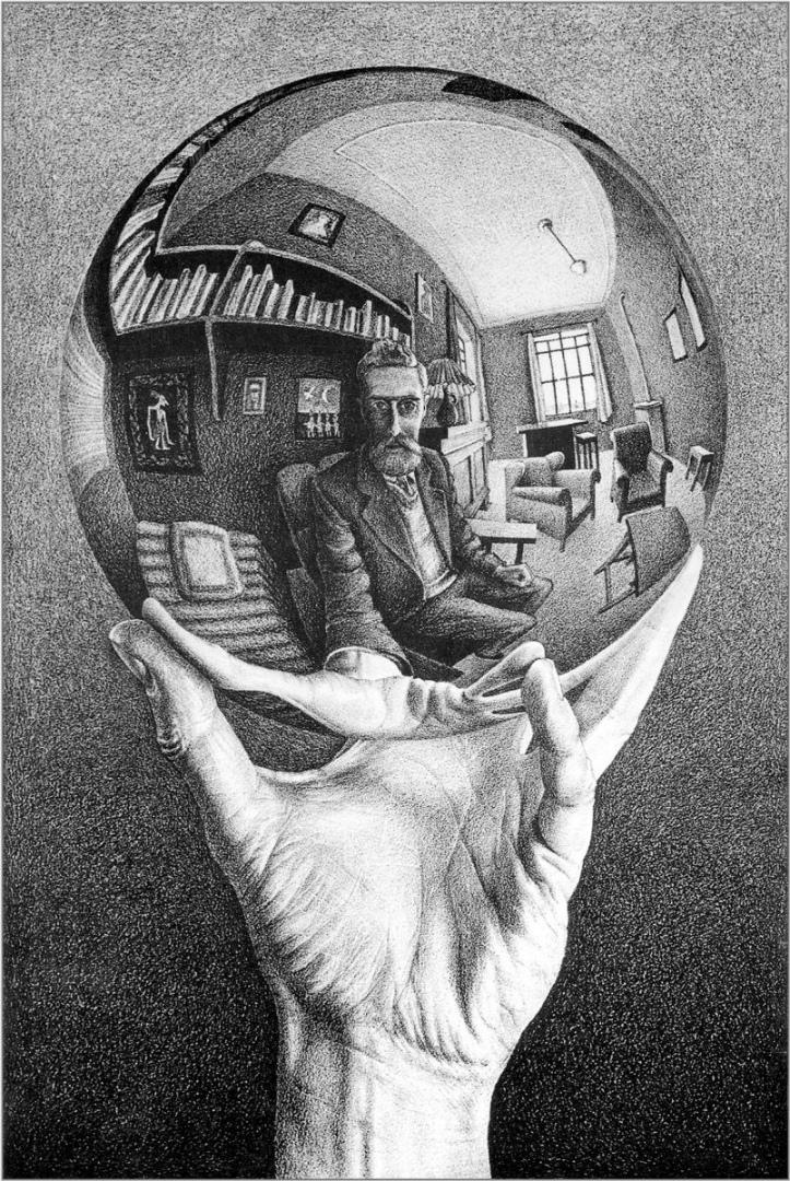Рука с отражающей сферой. 1935