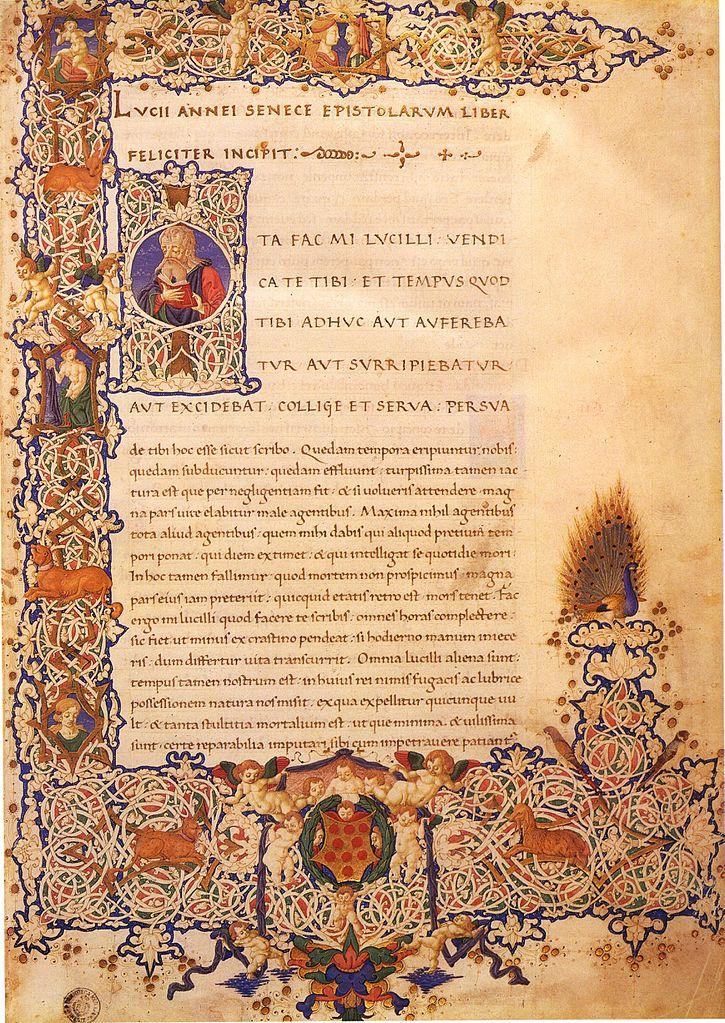 Сенека. Письма. Издание 1458 г.