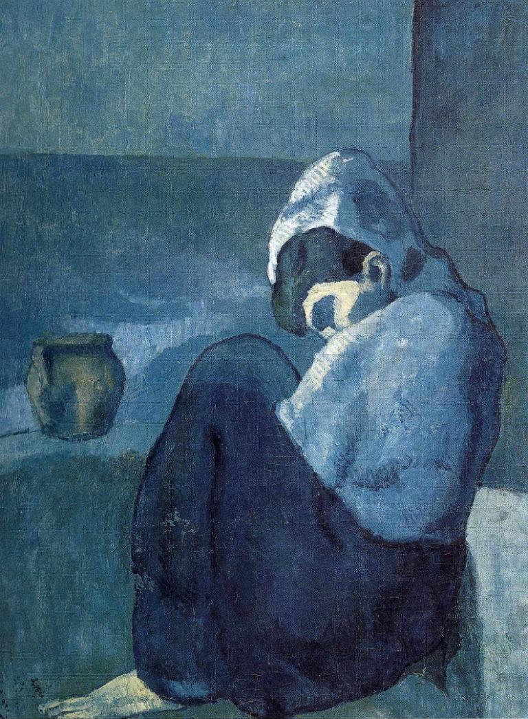 Сидящая женщина в капюшоне. 1902