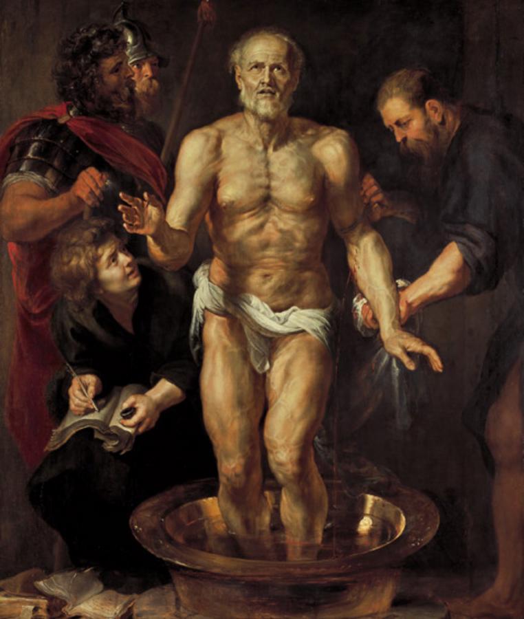 Смерть Сенеки. 1612–1613