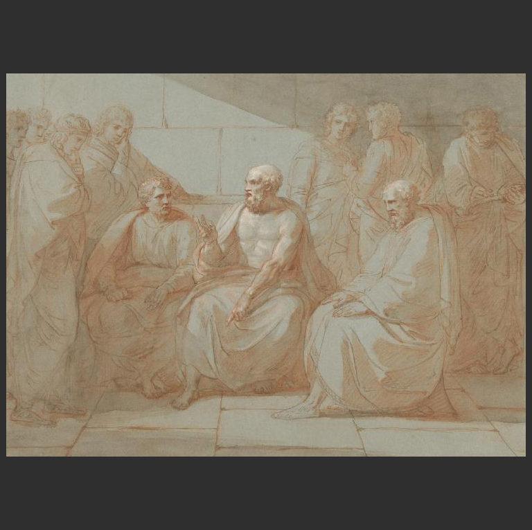 Сократ беседует с учениками. Ок. 1801-1807