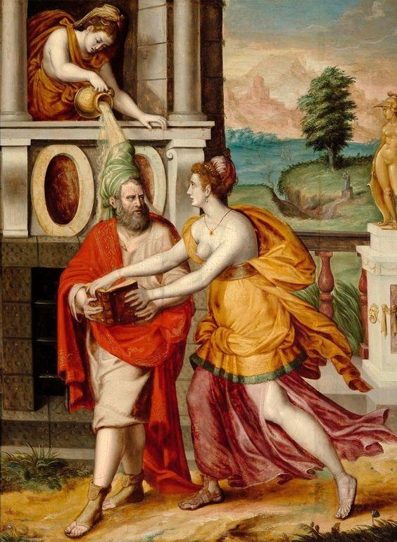 Сократ и Ксантиппа. Ок. 1550