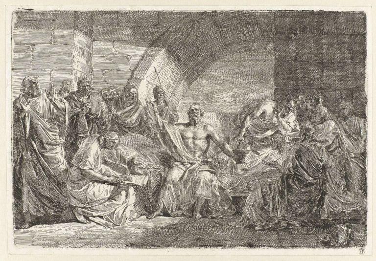 Сократ произносит последние распоряжения. 1800