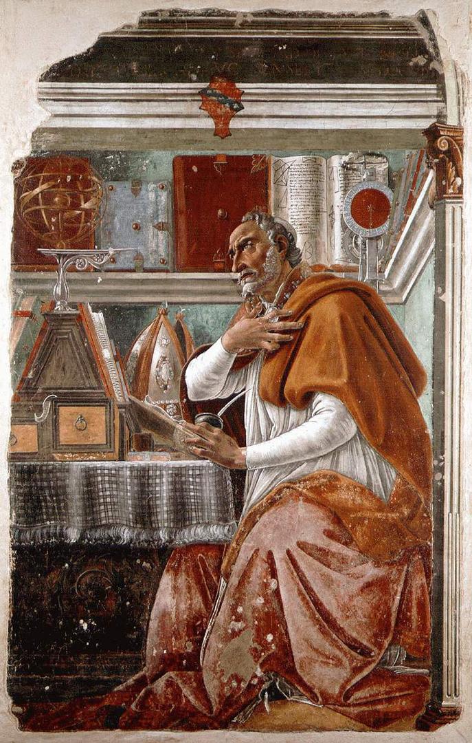 Святой Августин Блаженный в молитвенном созерцании. Ок. 1480