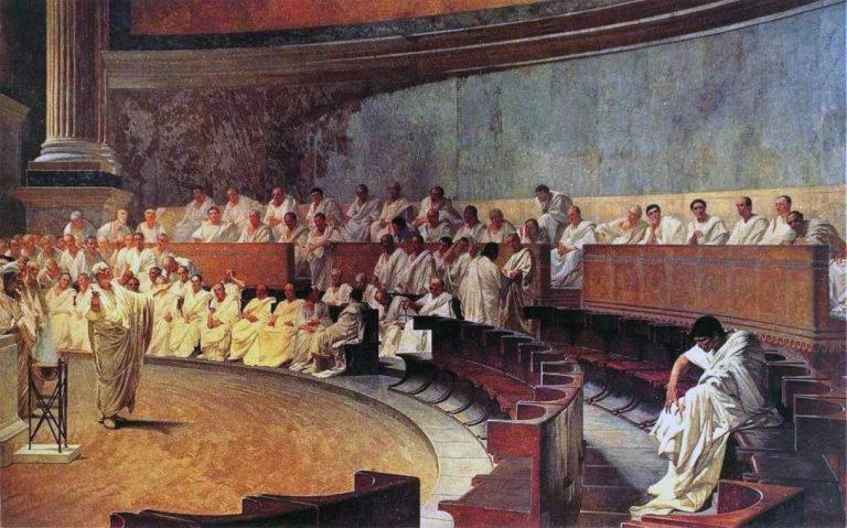 Цицерон произносит речь против Катилины. 1889