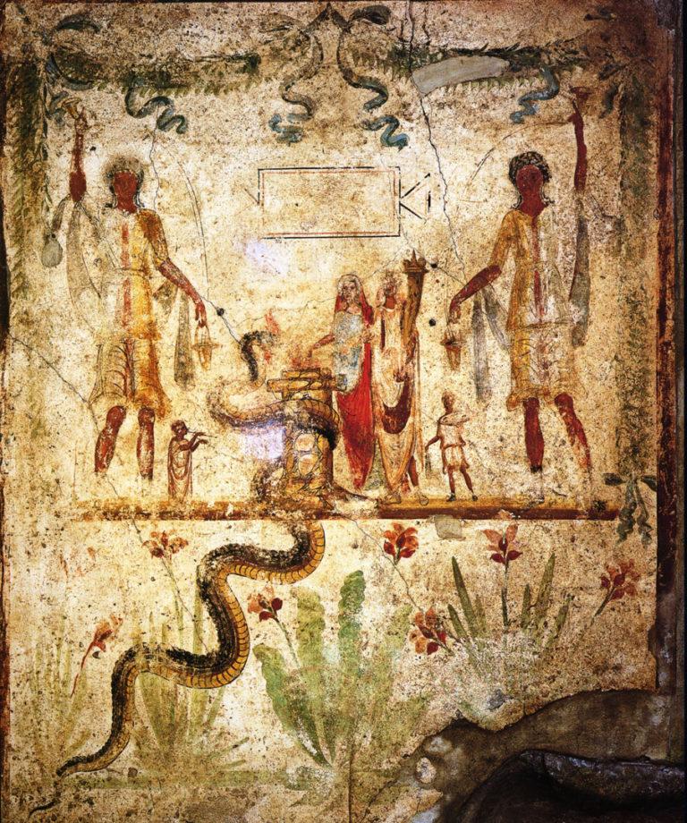 Теургическая символика на помпейской фреске. I в. н.э.