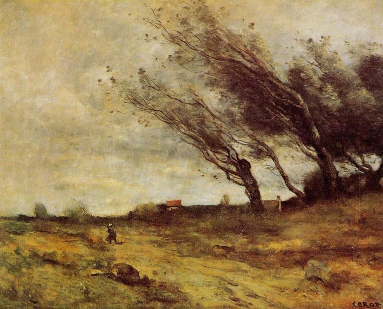 Ветреный пейзаж. 1865