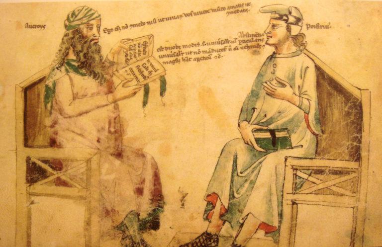 Воображаемая беседа Аверроэса (1126-1198) и Порфирия (234 - ок. 305). XIV в.
