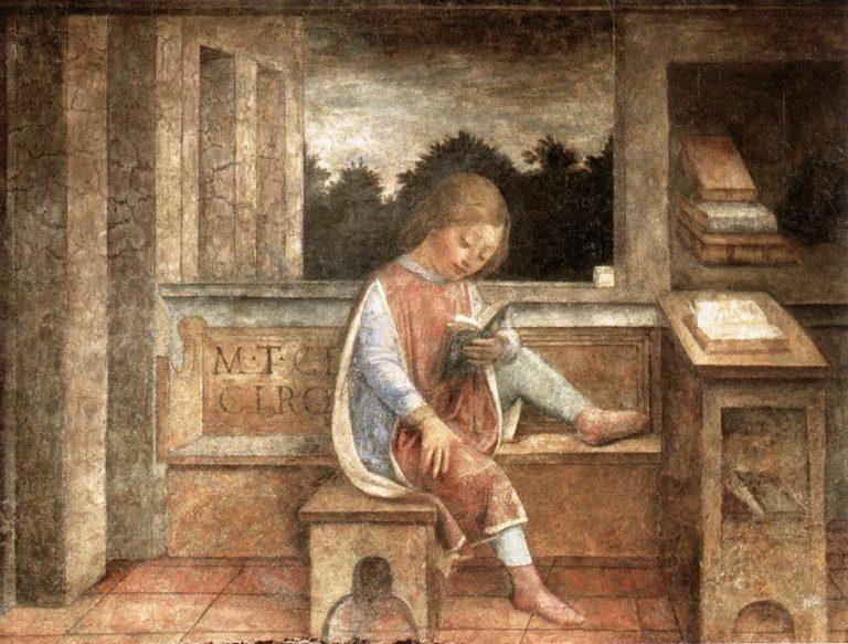 Юный Цицерон за книгой. Ок. 1446