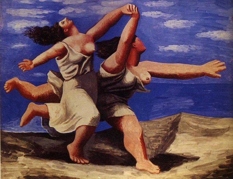 Женщины, бегущие по берегу. 1922