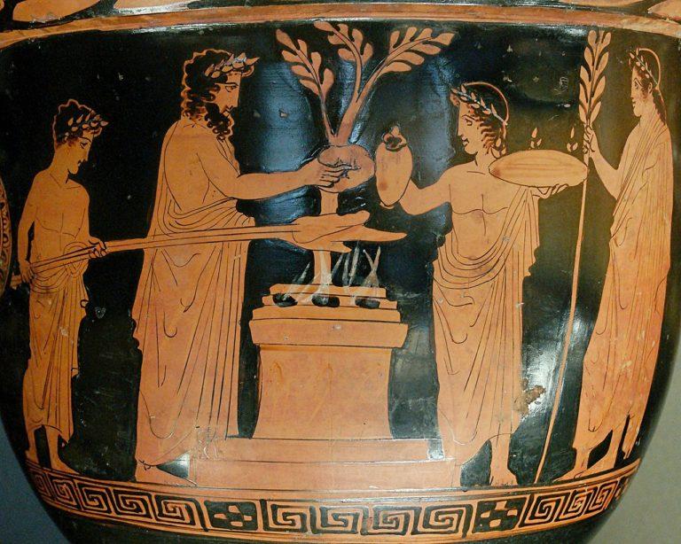 Жертвоприношение. Ок. 430-420 до н.э.