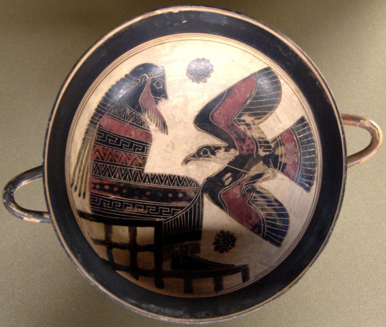 Зевс с орлом. Ок. 560 г. до н.э.