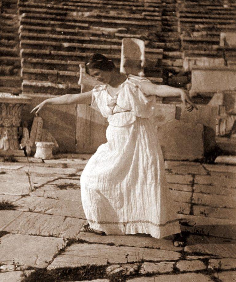 Айседора Дункан в театре Диониса. Афины, 1903