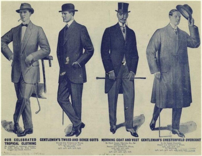 Английский мужской костюм начала XX века