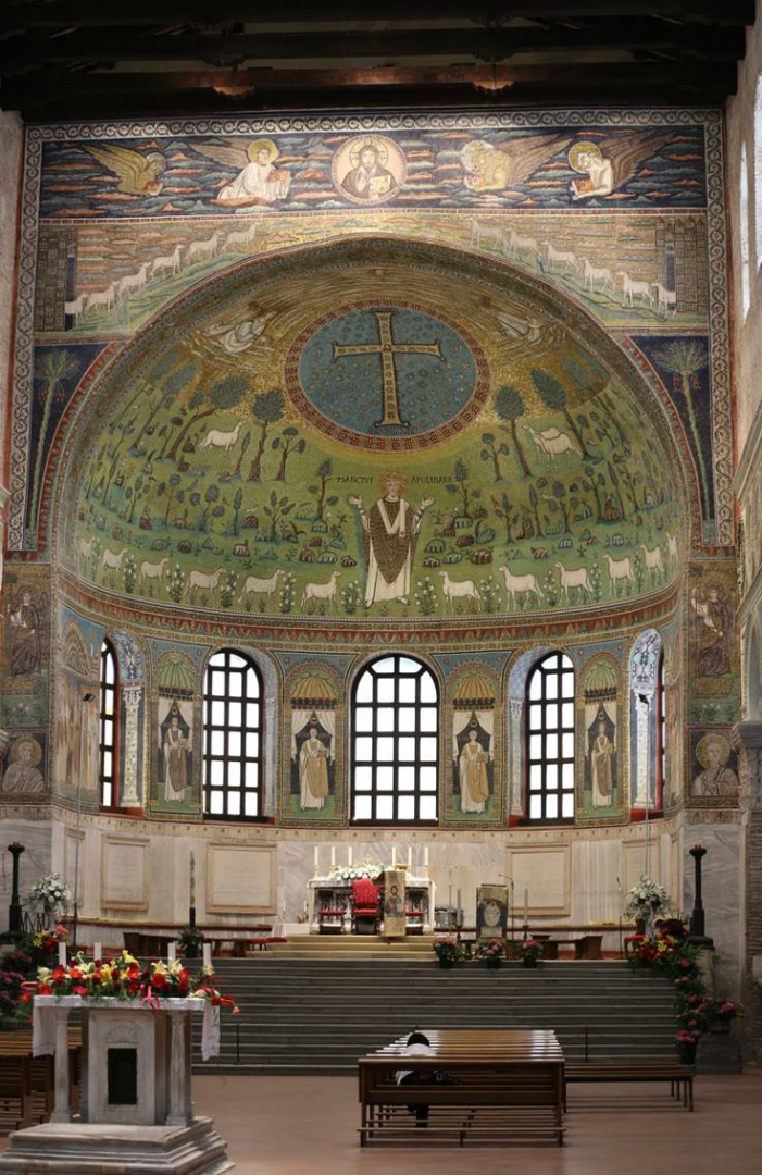 Апсида базилики Сант Аполлинаре ин Классе. Сер. VI в. Равенна