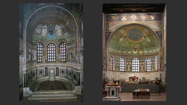 Апсиды базилик Сан-Витале и Сант Аполлинаре ин Классе. Сер. VI в. Равенна