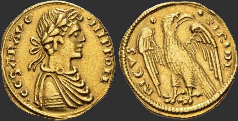 Августал, отчеканенный в Мессине. XIII в.
